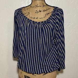 Michael Kors boat neck blouse, size medium.